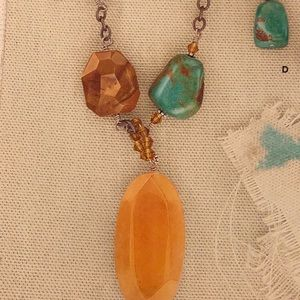 SILPADA Stone Necklace. Matching earrings listed